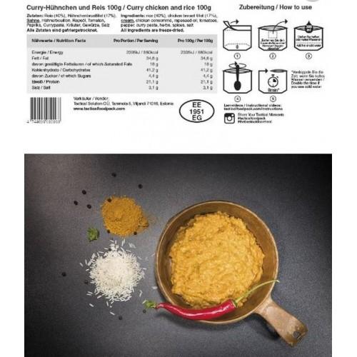 FOODPACK® POLLO AL CURRY E RISO TACTICAL