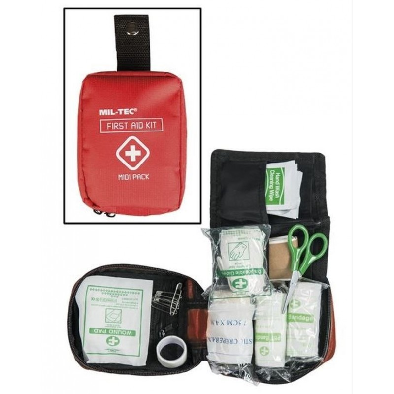 KIT FIRST AID RED MIDI