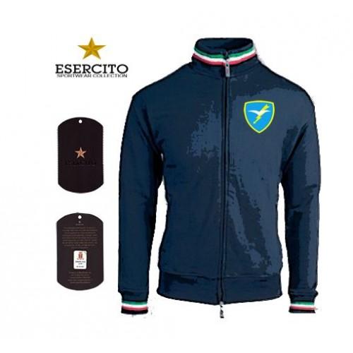 FELPA FOLGORE C/ZIP ESERCITO BLU