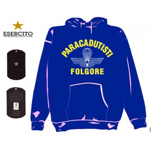 FELPA FOLGORE C/CAPPUCCIO CELESTE