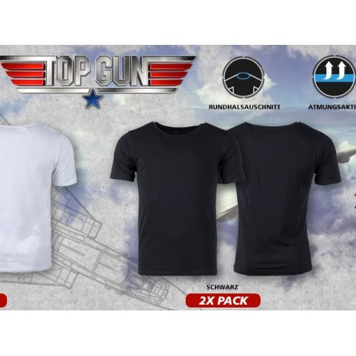 "T.SHIRT ""TOP GUN"" SLIM FIT NERA"