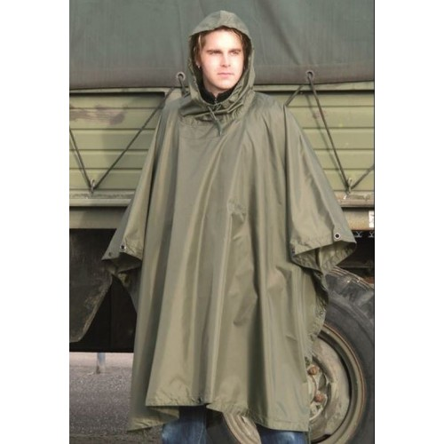 PONCHO US R-S WEATHER OLIVA